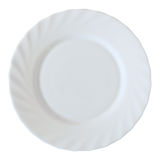 White plate isolated on white Stock Photo