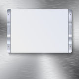 White plate with metal frame Royalty Free Stock Photos