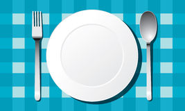 White plate set vector Stock Images