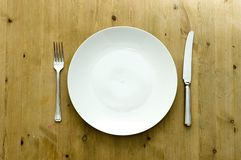 White Plate Setting Royalty Free Stock Photos