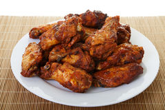 Chicken Wings on Bamboo Mat Royalty Free Stock Photos