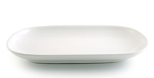 White plate on the white background Stock Photo
