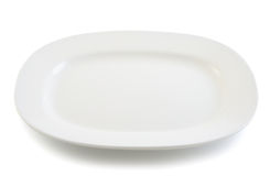 White plate on white background Royalty Free Stock Photo