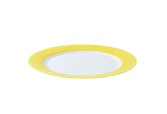 White plate with yellow rim Stock Photography