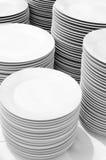 White plates Stock Image