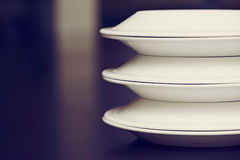 White plates Royalty Free Stock Image