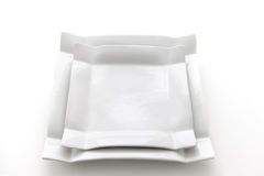 White plates Stock Photography