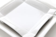 White plates Royalty Free Stock Photo