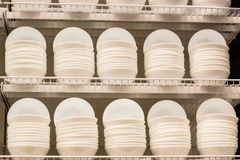 White plates in a shop Royalty Free Stock Photo