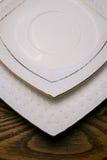 White plates Royalty Free Stock Photos