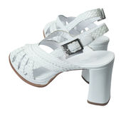 White platform sandals Stock Photography
