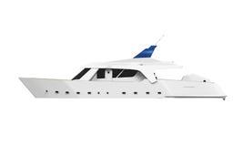White Pleasure Yacht Stock Photo