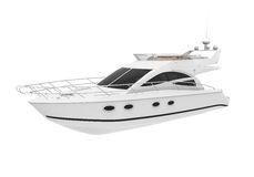 White Pleasure Yacht Royalty Free Stock Images