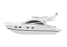 White Pleasure Yacht Stock Photos