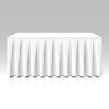 White pleated table-skirting Stock Image