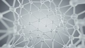 White plexus lines and nodes network abstract 3D rendering. White plexus lines and nodes network. Concept of internet communication technology and science royalty free illustration