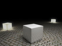 White plinth to place product Stock Photos