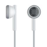 White plug stereo headphones Stock Images