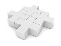 White plus jigsaw puzzle Royalty Free Stock Photos