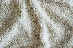 White Plush Blanket Texture Stock Image