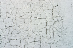 White pluster concrete wall texture cracks Royalty Free Stock Images