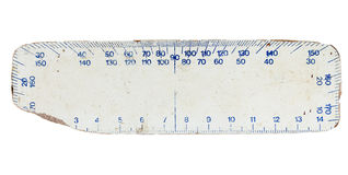 White plywood ruler Stock Photography