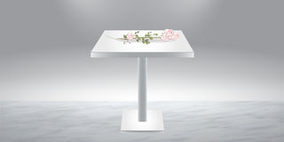 White podium with roses Stock Photography