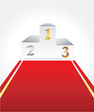 White podium with three places. For winners Royalty Free Stock Images