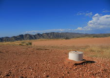 Land surveyor white measure point stock photos