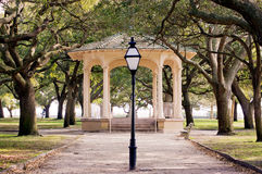 Charleston SC White Point Garden stock images