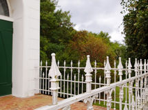 White Pointed Iron Fence Royalty Free Stock Photos