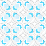 White pointy rhombuses with blue flat seamless Royalty Free Stock Images
