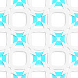 White pointy squares with blue inner part seamless Stock Photography