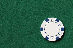 White poker chip Royalty Free Stock Photography