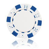 White poker chip Royalty Free Stock Image
