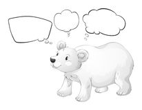 A white polar bear with empty callouts Stock Photography