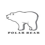 White polar bear  for  logo design Royalty Free Stock Photo