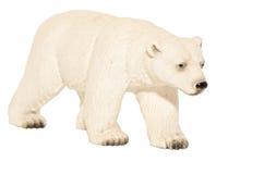 White polar bear toy. Isolated on white background royalty free stock images