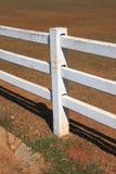 White pole fence Stock Image