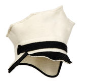 White police cap for bath Royalty Free Stock Photo