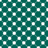 White Polka dot Chess Board Grid Indigo Green Christmas Background. Stock Photo
