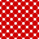 White Polka dot Chess Board Red Christmas Background. Royalty Free Stock Photos