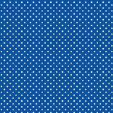 White Polka dots, Blue Background. Seamless pattern of small white polka dots on a bright blue background for arts, crafts, fabrics, decorating, albums and scrap Royalty Free Stock Image