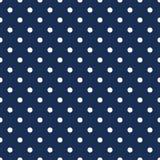 White polka dots on navy blue background Royalty Free Stock Photos