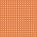 White polka dots on orange background vector. Stock Photos
