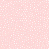 White polka dots seamless pattern on pink. Stock Photography