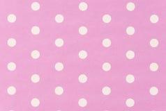 White polkadot with pink background Royalty Free Stock Photos