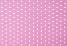 Free White Polkadot With Pink Background Stock Photos - 79035323