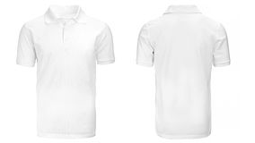 White Polo shirt, clothes. On isolated white background stock images