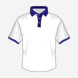 White polo shirt design with dark blue collar. Vector illustration of the White polo shirt design with dark blue collar Stock Images